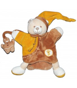 DOUDOU ET COMPAGNIE Marionnette OURS Mario marron orange Pain d Epices