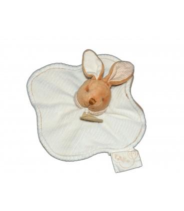 DOUDOU ET COMPAGNIE Lapin blanc beige plat bio Pour Nathalys