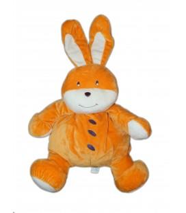 AJENA - Doudou peluche Lapin orange H 45 cm