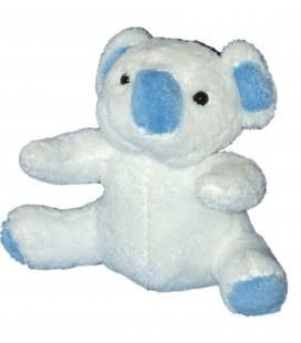Doudou peluche Koala Blanc bleu Bebisol 24 cm