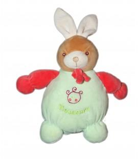 Nounours - Doudou Lapin Vert 28 cm oreilles levées