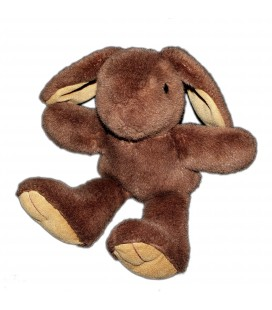 AJENA - Peluche Lapin Brun marron H 32 cm