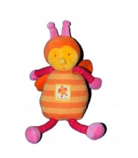 Doudou peluche Abeille orange Louna - MOULIN ROTY - H 28 cm