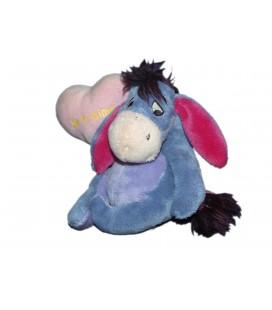 Doudou peluche BOURRIQUET - Ballon coeur rose Je t'aime - H 18 cm Disney Nicotoy