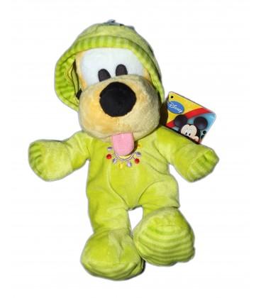 Doudou peluche PLUTO Pyjama vert - Disney Mickey Club House - H 26 cm
