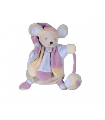 DOUDOU ET COMPAGNIE Marionnette Souris rose poudré rose DC2385 Marios Collector
