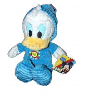 Doudou Peluche DONALD Peignoir Mickey Mouse Club House - H 28 cm