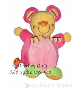 Doudou peluche Souris rose Mots d Enfants 22 cm
