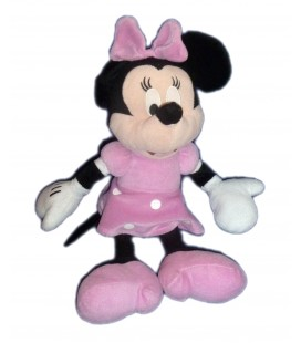 Peluche doudou MINNIE Robe rose pois Disney PTS SRL H 42 cm