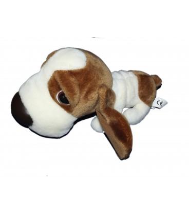 Peluche Chien basset marron blanc - TCC Artlist International L 26 cm
