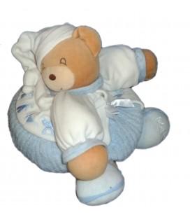 KALOO - Doudou OURS boule bleu blanc Enfants 22 cm Poche Zip