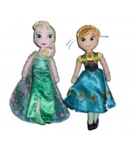 Lot Doudous peluches Poupées Elsa Anna La Reine Des Neiges Frozen - Disney Nicotoy H 28 cm
