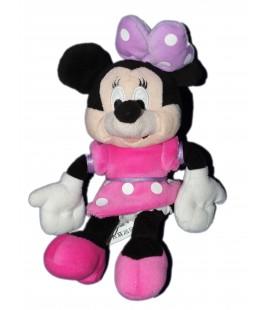 Peluche doudou MINNIE Robe rose pois Disney Nicotoy H 30 cm 587/1753