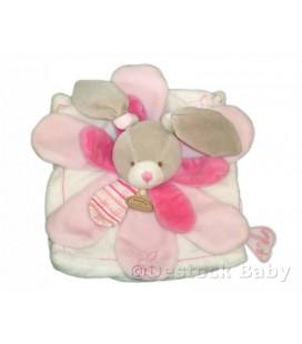 DOUDOU ET COMPAGNIE Lapin rose blanc Celestine Mon doudou à moi