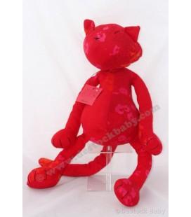 Doudou peluche CHaT rouge KENZO pour le Printemps - 50 cm - Nounours