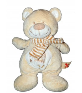 Doudou Peluche OURS beige Little Teddy 28 cm Nicotoy