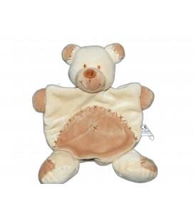 Doudou Plat Ours Bastien beige marron NICOTOY Simba - Croix Nombril 579/6502