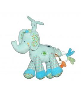 Doudou Peluche Musicale Elephant Bleu Nicotoy 22 cm 579/0428