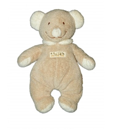Doudou Ours beige NICOTOY The Baby Collection H 22 cm