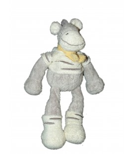 Doudou Cheval Zèbre Gris The Baby Collection NICOTOY 24 cm