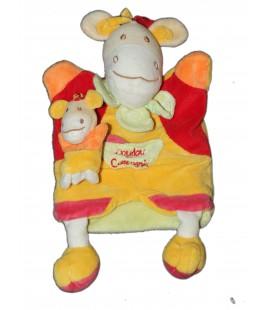 DOUDOU ET COMPAGNIE Marionnette Zebre Cheval Jaune rouge Poche Bebe
