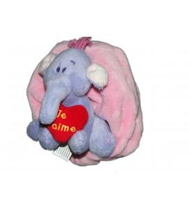 Peluche doudou Lumpy coussin Coeur Je t'aime Disney Nicotoy 13 cm