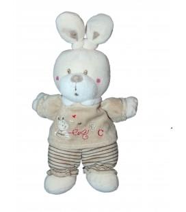 Doudou beige ABC NICOTOY Simba 28 cm