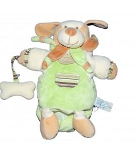 DOUDOU ET COMPAGNIE Marionnette Chien Vert avec son Os