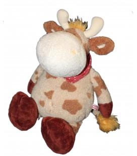 Grande peluche doudou Vache marron beige NICI H 50 cm Gd Mod
