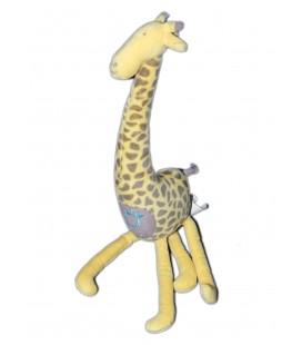 Doudou peluche Girafe Jaune OBAIBI - H 40 cm