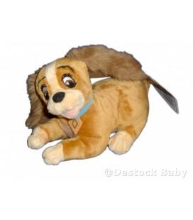 Doudou peluche LADY Chien LA BELLE ET LE CLOCHARD Disney Nicotoy L 18 cm