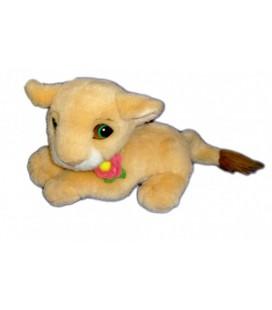 Doudou peluche Nala LE ROI LION Fleur rose Authentique Disney Mattel 25 cm