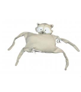 Doudou petit coussin tissu gris Chat chien Raton laveur PICK OUIC