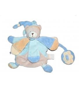 DOUDOU ET COMPAGNIE Marionnette Collector Ours Bleu Poudré DC2385