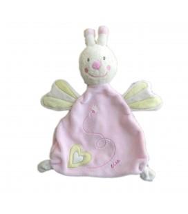 Doudou plat Abeille Papillon Lisa Sauthon Baby Deco