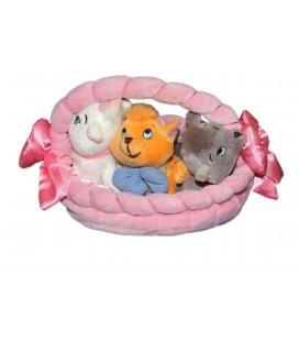 Peluche chatons LES ARISTOCHATS Panier