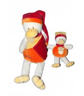 DOUDOU ET COMPAGNIE - CANARD Gédéon et son bébé - H 30 cm