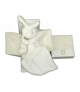 DOUDOU ET COMPaGNIE - Lapin blanc et son mouchoir Boite Fleur DC303
