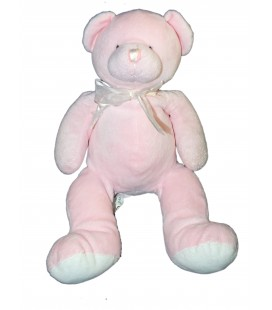 Doudou peluche OURS rose PLAYKIDS 32 cm