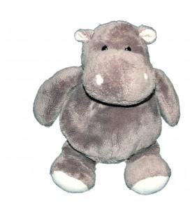 Doudou peluche HIPPOPOTAME gris HISTOIRE D'OURS - 17/24 cm