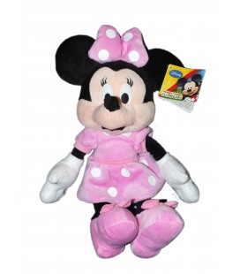 Peluche doudou MINNIE robe rose Disney Club House H 35 cm