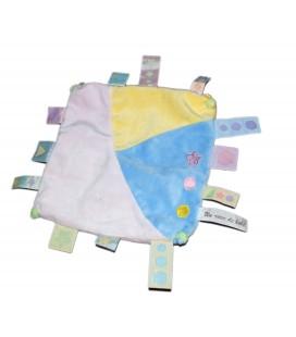 Doudouplat Un rêve de Bébé bleu mauve jaune étiquettes CMP