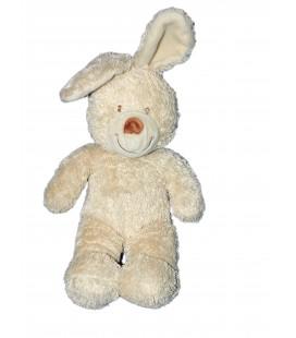 Doudou Peluche Lapin beige TEX Baby Carrefour 35 cm