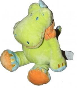 Doudou Crocodile vert Vetir Kiabi Nicotoy 26 cm
