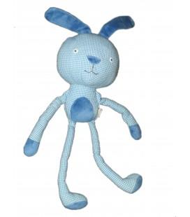 Doudou tissu Lapin bleu vichy DPAM - Du Pareil au Meme - 28 cm Grelot
