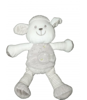 Peluche doudou Mouton blanc gris Vêtir 22 cm