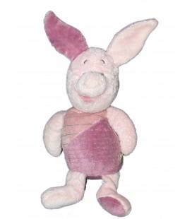 Doudou peluche PORCINET - Rose mauve - H 36 cm - Disney Nicotoy 587/8103 Etiquette Fleur 8553