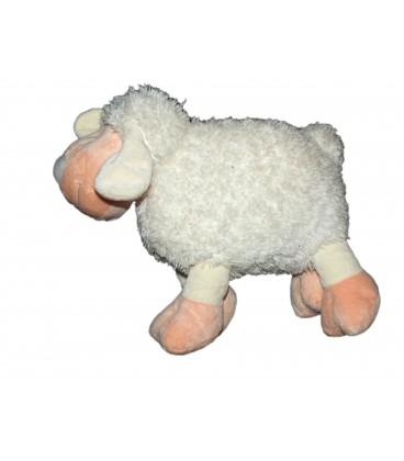 Doudou Peluche Mouton blanc rose NICOTOY - L 26 cm 579/9146