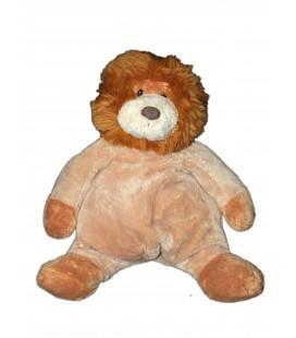 Doudou Peluche Lion marron beige - CMP - H 30 cm