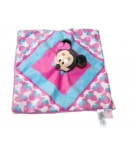 Doudou plat MINNIE rose bleu - Disney Nicotoy 587/3824